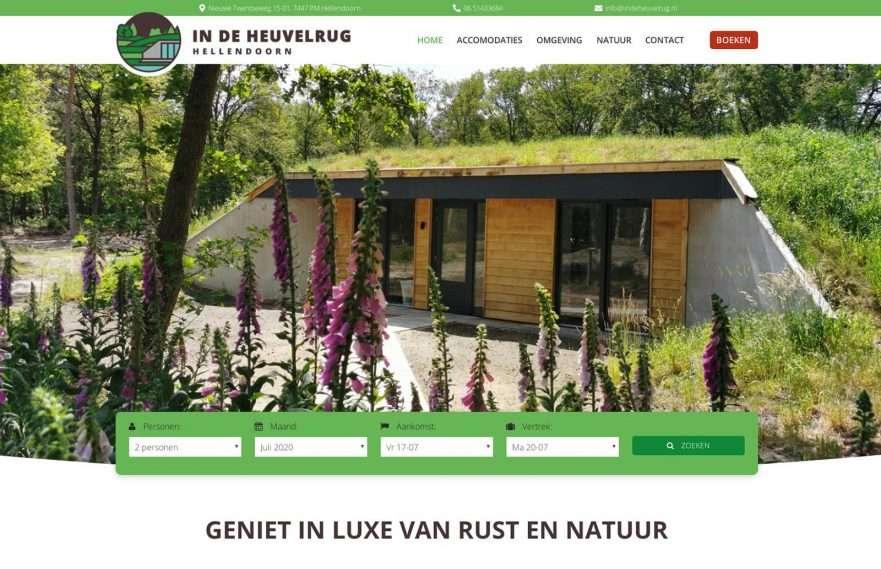 In de Heuvelrug Hellendoorn Wordpress website design main
