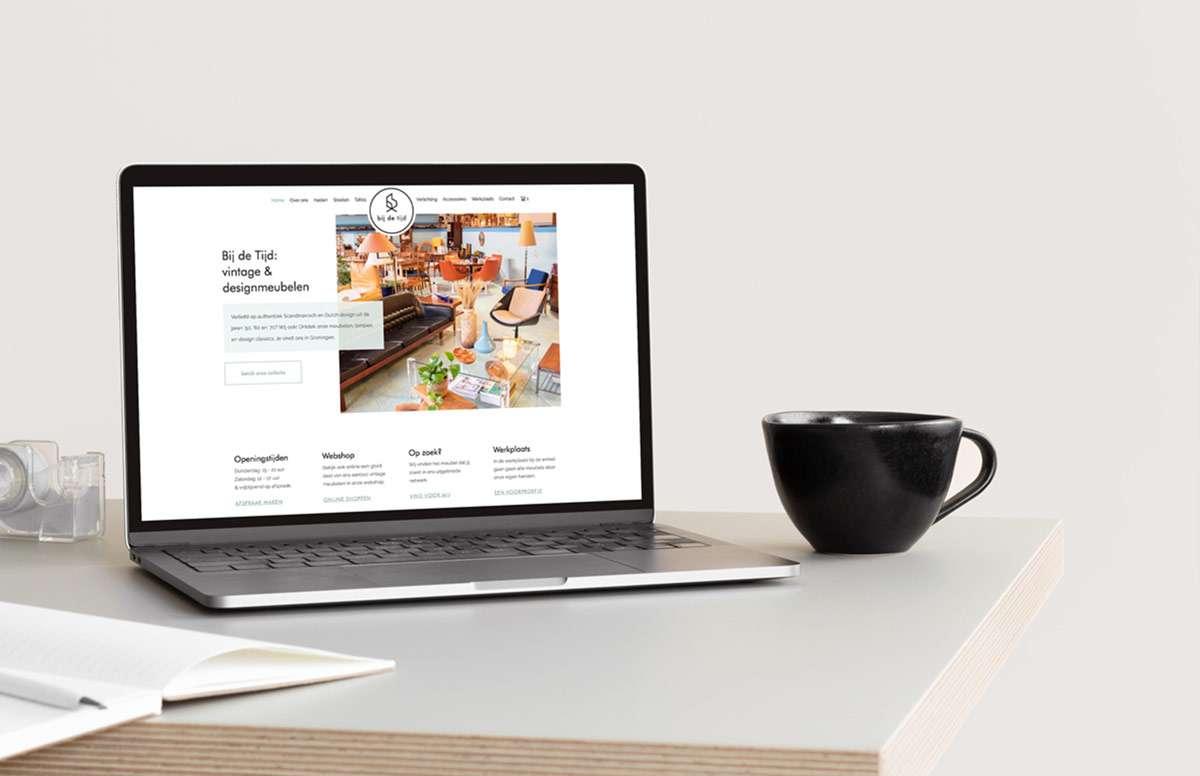 Bij de Tijd Wordpress website Woocommerce Studio Mashup Groningen